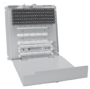 25100-110-M110PC 100 Pair BET with no splice chamber; 110 termination in / out; with 230V Gas Tube protectors