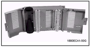 1880ECA1-50 50 Pair 110 Termination in - 110 Termination out with Splice Chamber and Cover Building Entrance Protector