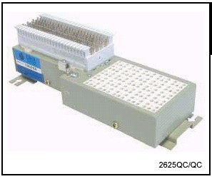 2625QC-3B1E 25 Pair 66 in 66 out Building Entrance Protector Loaded with 3B1E