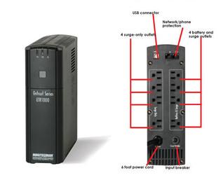 ETR1000 Minuteman Line Interactive Uninterruptible Power Supply 1000 VA
