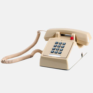 Traditional 2500 Style Desk Telephone with 90V Message Waiting Light guestroom telephone