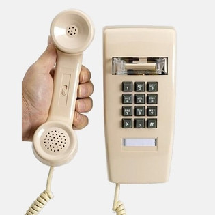 Traditional 2554 Style Wall Telephone for Business, Hotel and Hospitality Applications
