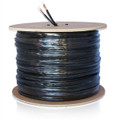 CCTV Coaxial Cable RG59 95% Copper Braid Shield with 18/2 Power Cable Siamese Direct Burial 500'