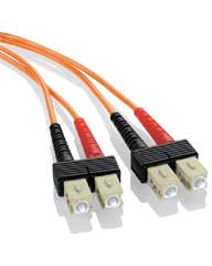 SC-SC Duplex Multi Mode 62.5/125 Fiber Optic Patch Cable