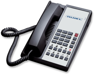 Teledex Diamond+10 Hotel Hospitality Guestroom Telephone Black DIA652391