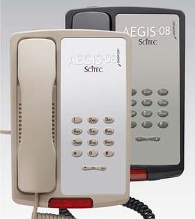 Scitec Aegis-P-08 Single Line Hotel Phone Black 80002