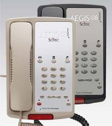 Scitec Aegis-3-08 Single Line Hotel Phone 3 Button Black 80302