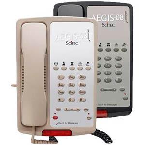Scitec Aegis-5-08 Single Line Hotel Phone 5 Button Ash 80501