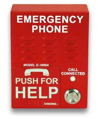 Viking E-1600A Red Emergency Telephone Auto Dialer Voice Announcer