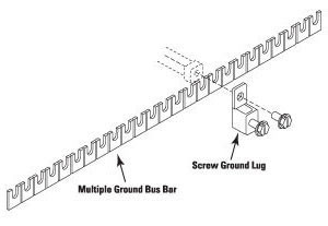 ITW Linx MGBSGL-1 - UltraLinx 25 Pr Ground Bar w/ 1 Ground Screw Lug