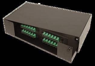 "2 RU 4 Termination Panel 19"" or 23"" Rack Mount Fiber Distribution Unit"