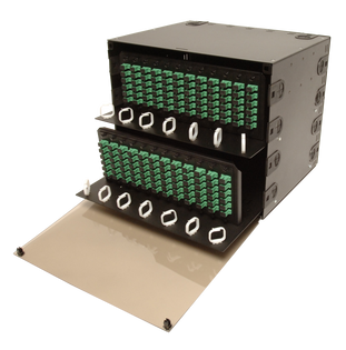 "FRM-8.5RU-24X-TS is an 8.5 RU 19"" or 23"" Rack Mount Fiber Distribution Unit LIU"