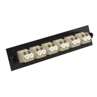 MLC-12-MM-P-BLK Loaded LC MM Phosphorous Bronze Duplex 6 Pack Panel