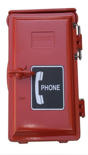 Outdoor Wall Mount Telephone Enclosure Red