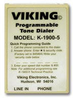 Viking K-1900-5 Hot Line Dialer, Touch Tone, field Programmable