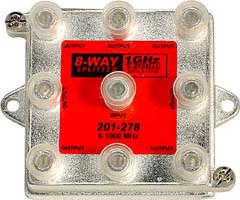 8-way 1Ghz 130dB F Splitter