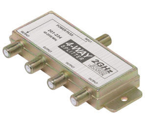 2GHz 90db 4-Way Splitter 1 Port DC Passing