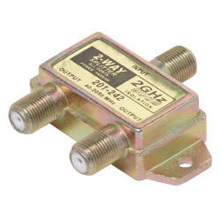 2GHz 90db 2-Way Splitter 2 Ports DC Passing