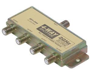 2GHz 90db 4-Way Splitter 2 Ports DC Passing
