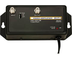 25dB Broadband Amplifier Switchable FM Attenuator Trap