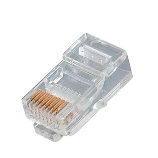 300-068 Modular Line Cord Plug 8P8C RJ45 for Flat Cable