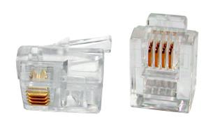 300-064 Modular Line Cord Plug for Flat Cable