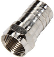 RG6 Coaxial Cable Crimp F Connector with ½ inch Barrel