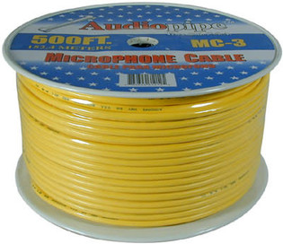 256-211 2C Audio Pipe Brand Microphone Cable 500'