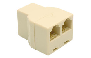 "300-074 Telephone Splitter ""T"" Adapter 3 Jacks"
