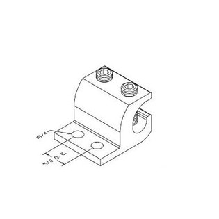 40167-001 Two Mounting Hole Ground Terminal Block for Racks