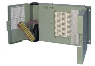 1890ECM1-100 100 Pair MS2 Termination in -66 out w/ Splice Chamber & Cover Building Entrance Protector