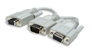 "328302 6"" VGA Splitter Cable HD15 Male to (2) HD15 Female"