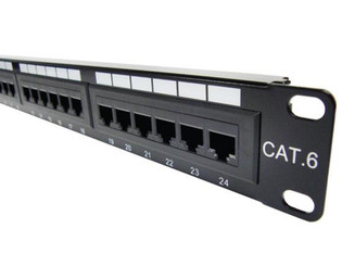 "24 Port Category 6 Horizontal 19"" Patch Panel"