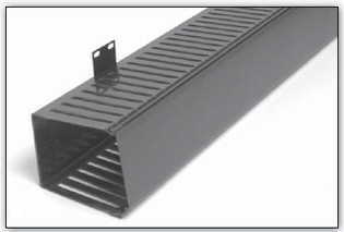 """Vertical Finger Duct Single Sided Side Mount Front Only 4""""W x 5""""D x 83""""H"""