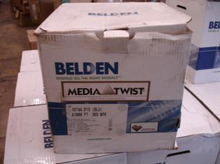 Belden 1874A Plenum MediaTwist Enhanced Category 6 Cable 1000Ft Blue