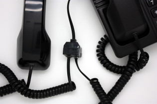 Two Way Telephone Handset Splitter with One Port Mute