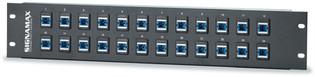 """48SC-FT 48-Fiber (48-Simplex) SC MM Fiber Panel, 5.25"""" High"""