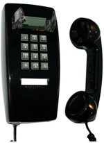 255400-VBA-20M Cortelco 2554 Black Basic Wall Phone