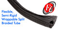 "Techflex F6 Flexible Semi-Rigid Wrap Around Braided Sleeving 1"" X 50'"
