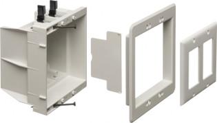 DVFR2 Dual Gang Indoor Recessed Box Power or Low Voltage