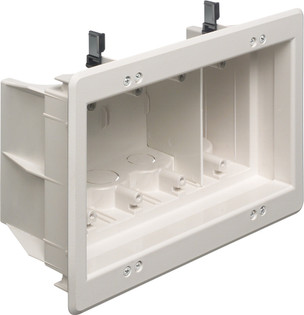 DVFR4 4 Gang Indoor Recessed Box Power or Low Voltage
