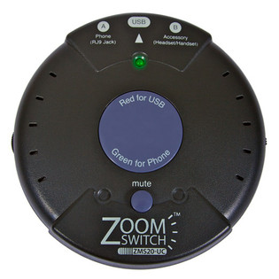 ZMS20-UC ZoomSwitch USB Headset Switch Use Your Phone Headset on Your Computer