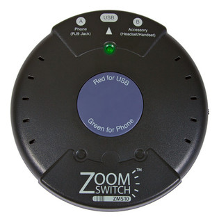 ZMS10-C ZoomSwitch USB Headset Switch Use Your Phone Headset on Your Computer