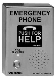 E1600-03BEWP ADA Compliant Emergency Phones with Built-in Auto Dialer and Digital Announcer