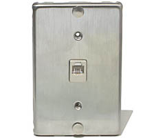 Telephone Wall Phone Mounting Plate 6P4C Stainless Steel