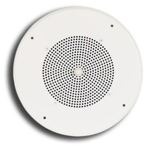 "S810T725PG8UVR 8"" Ceiling Speaker Bright White with Recessed Volume Control Knob"