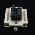 Porta Systems 1506 6 Pair Protector Block Termination 110 in 110 out with Modules