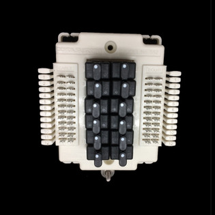 Porta Systems 1512 12 Pair Protector Block Termination 110 In 110 Out with Modules