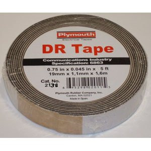 "DR2183 Double Volcanized Rubber Tape 3/4"" x 5' DR Tape"