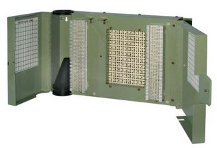 1890ECT1-100 100 Pair 66 Termination in -66 out w/ Splice Chamber & Cover Building Entrance Protector